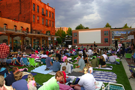Fairhaven Outdoor Cinema, Bellingham Washington