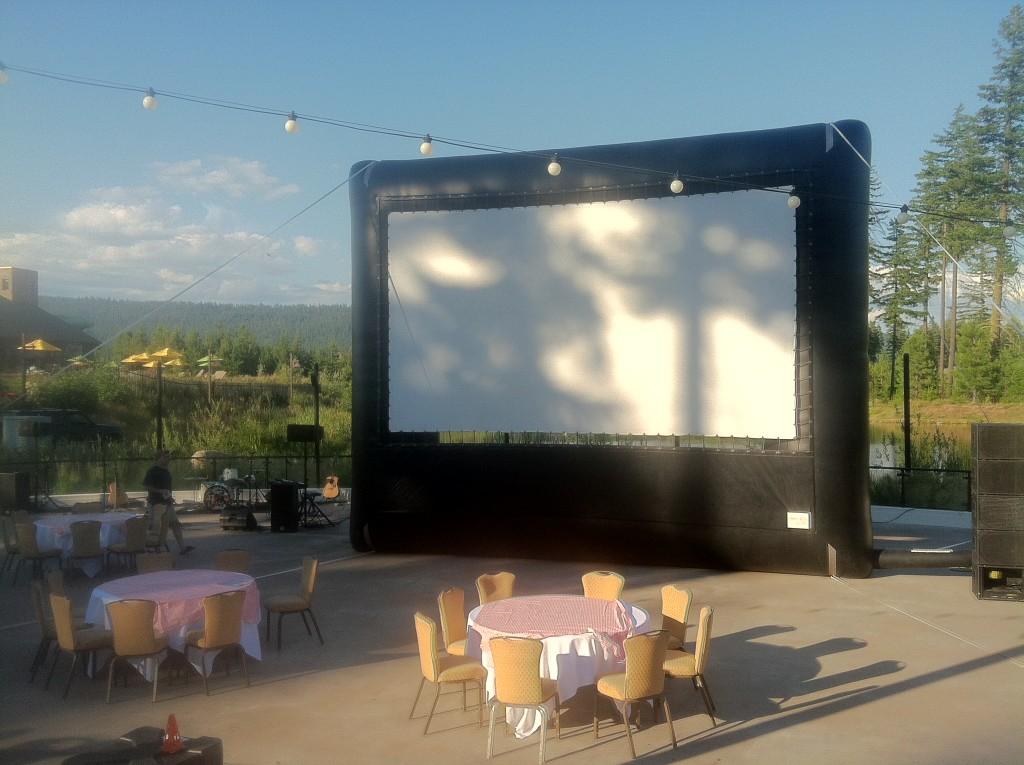 Inflatable Outdoor Movie Screen Rentals for Drive-in Movies by Epic Events serving Seattle, Portland, Bellingham, Washington, Oregon and Idaho