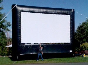 Epic Events 20ft Inflatable Movie Screen Rental Seattle Bellingham Portland