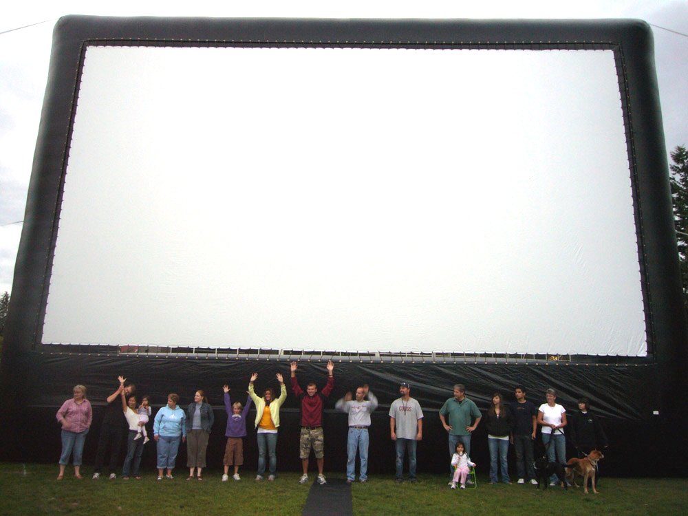 Epic Events 40ft Inflatable Movie Screen Rental Seattle Bellingham Portland