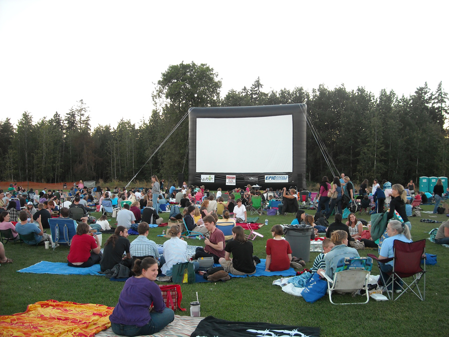 Outdoor Movie Screen Rental Drive In Movie Theaters Seattle Portland Washington State Epic Events Promotion